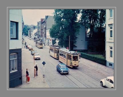 Die letzte Fahrt der Straßenbahn im Jahre 1973. Scan vom Dia