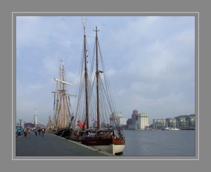 DSCF8690Segelschiffe im Flensburger Hafen