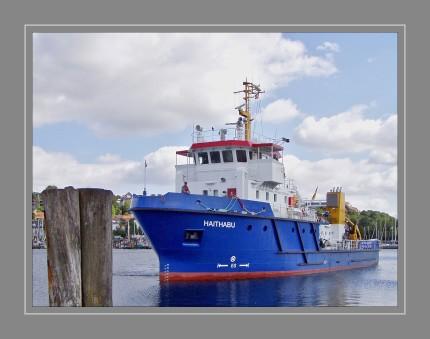 Die MS Haithabu wird vom Landesbetrieb für Küstenschutz, Nationalpark und Meeresschutz (LKN-SH) betrieben.  Nährstoffeinträge in die Gewässer, Ölunfälle und Munition am Meeresgrund – die Norddeutschen Meere sind einer Reihe von Gefahren und Belastungen ausgesetzt. Daher erfüllt das Forschungsschiff für verschiedene Landesbehörden vielfältige Aufgaben: Sie dient dazu, mehr über den Zustand der Ostsee zu erfahren, um sie besser schützen zu können. Die Haithabu ist wichtig für die Ölbekämpfung und wird zum Auffinden und Räumen von Munition eingesetzt.