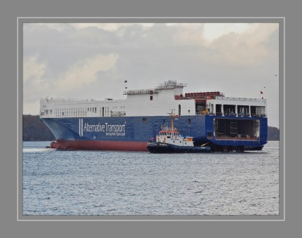 """. Die 210 m lange """"Meleq"""" von der Flensburger Schiffbau-Gesellschaft (FSG) hat eine Tragfähigkeit von 32.600 t und kann 280 Sattelauflieger transportieren. Die Flotte von Alternative Transport umfasst damit künftig sechs RoRo-Schiffe, darunter vier eigene und zwei gecharterte. Im Februar 2018 soll ein mit der """"Meleq"""" baugleiches Schiff ebenfalls bei der FSG vom Stapel laufen"""